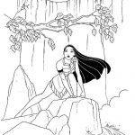 Pocahontas Indian Princess free printable coloring pages