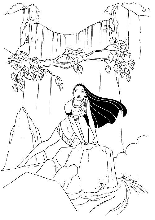 Pocahontas Indian Princess Free Printable Coloring Pages Disney