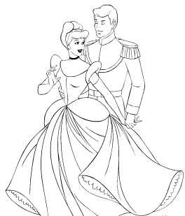 Cinderella Prince Charming online coloring pages