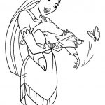 Disney Pocahontas Meeko free printable coloring pages
