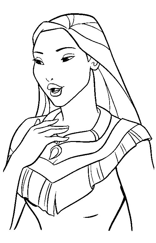 Disney Princesses Pocahontas free coloring Printables