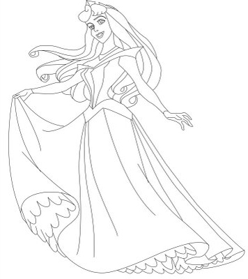 Disney princess coloring pages sleeping beauty