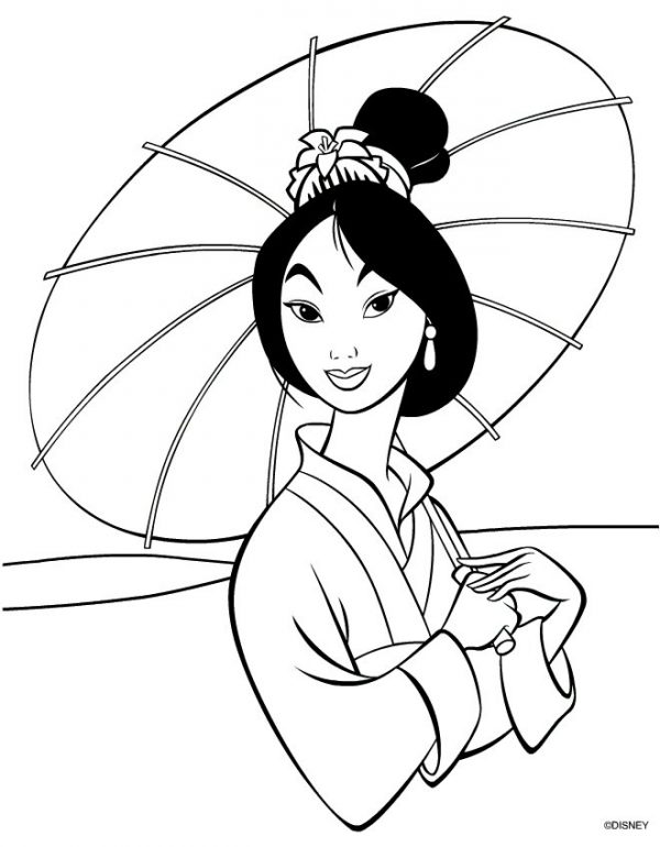 Disneys Mulan free printable coloring pages
