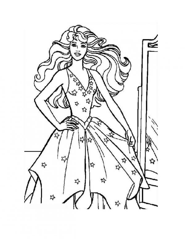 Barbie Coloring pages Princesses