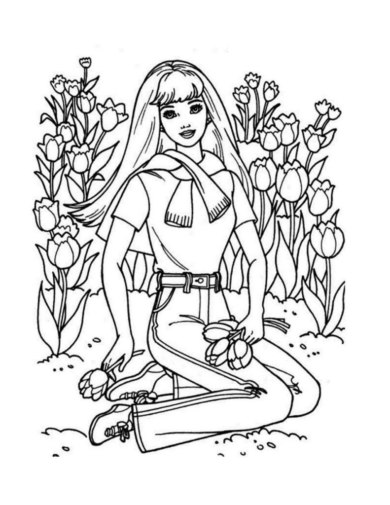 Coloring page Princess Barbie