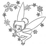 Coloring Tinkerbell pink flowers
