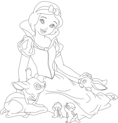 Snow White Princess coloring pages